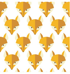 paper foxes natural seamless pattern vector image
