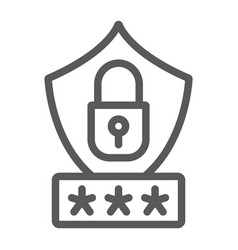 password protection line icon privacy and access vector image