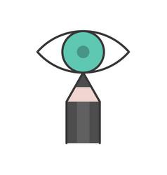 Pencil eyeliner and eye vector