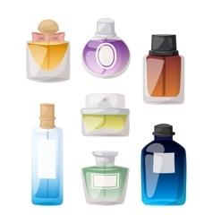 Perfume bottle set vector