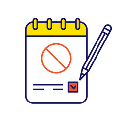 Petition color icon vector