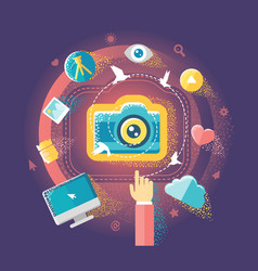 photography and internet vector image