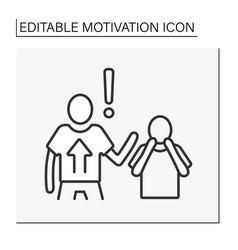 Power motivation line icon vector