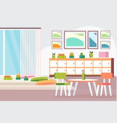 Preschool modern kindergarten children classroom vector