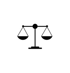 scales balance icon vector image