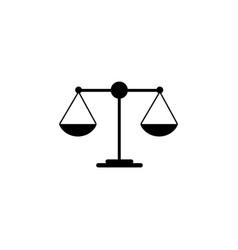 Scales balance icon vector