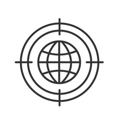 searching world wide web linear icon vector image