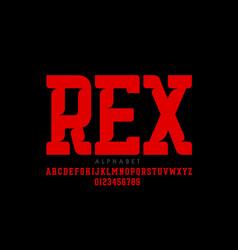 serif style modern font vector image