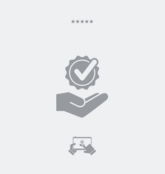 Service offer - check best option - minimal icon vector