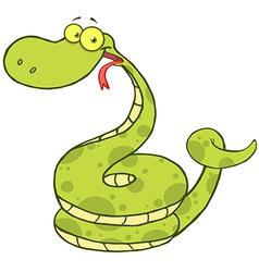 Snake Cartoon Mascot Character vector image
