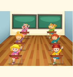 Student in classroom vector