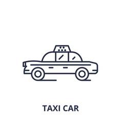 taxi car line icon concept taxi car linear vector image