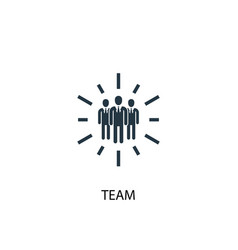 team icon simple element vector image