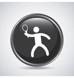 Tennis player icon Sport design graphic vector image