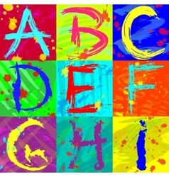 The abstract text effect in bright colors vector image