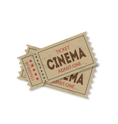 Tickets with shadow on a white background vector