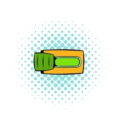 Toggle switch in Yes position icon comics style vector image