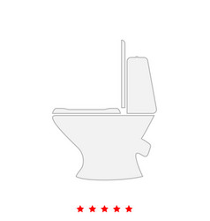 Toilet bowl it is icon vector