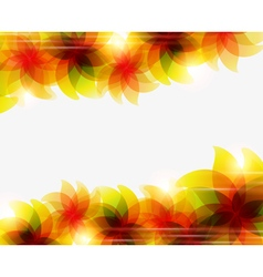 Transparent orange flowers vector