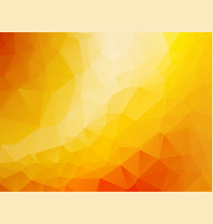 triangle abstract background of yellow orange gold vector image