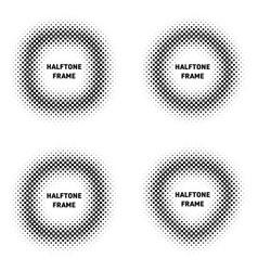 various black halftone design elements set vector image