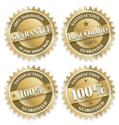 Various guarantee seals vector