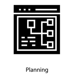 web planning structure vector image