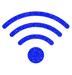 wi-fi source grunge icon vector image
