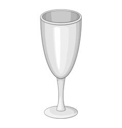 Wineglass icon cartoon style vector