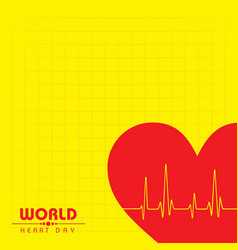 world heart day background stock vector image