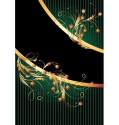 Background with golden ornament vector image vector image