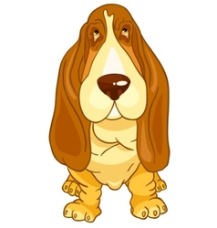 cartoon character dog vector image