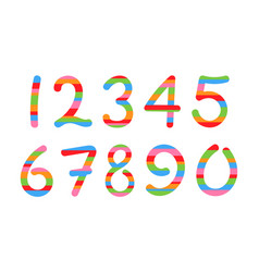 colored arabic numerals set 1-10 vector image vector image