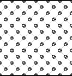 Seamless pattern of geometric shapes and tracery vector