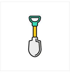 shovel icon on white background vector image