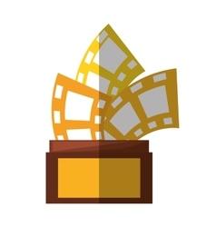 trophy film awards shadow vector image