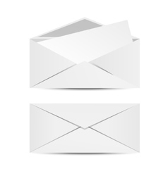 Two white envelopes vector image