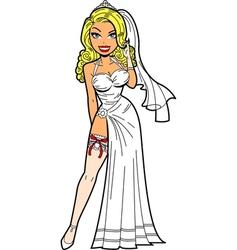 Bride With Garter vector image