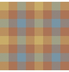 Brown check plaid seamless pattern vector image vector image
