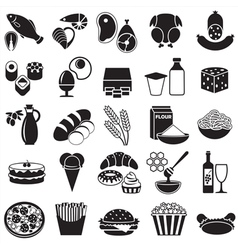 Food silhouette vector image