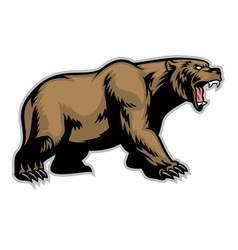 grizzly bear mascot vector image vector image