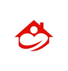 love house people logo vector image