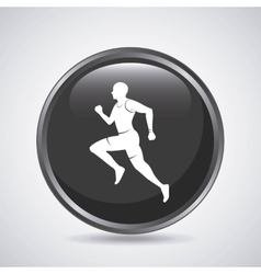 Man running icon Sport design graphic vector image