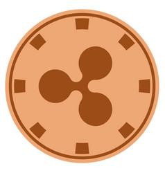 Ripple copper casino chip vector