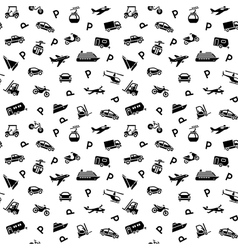 Seamless backdrop transport icons - 10eps vector image vector image