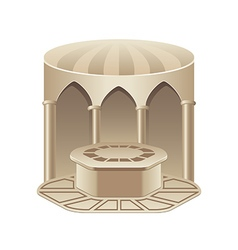 Turkish bath hammam isolated on white vector image vector image