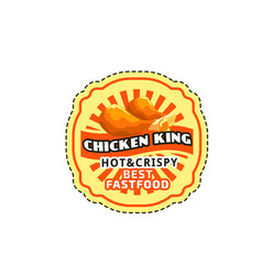 Chicken wings legs nuggets fast food icon vector