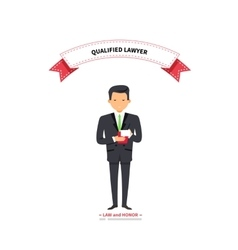 Qualified Lawyer Man vector image vector image