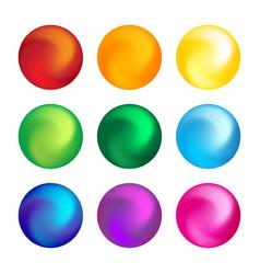 rainbow color ball threedimensional set design vector image