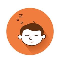 sleeping head symbol vector image vector image